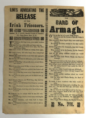 """Bard of Armagh"" ballad sheet"