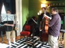 Rob, Riley, and Ryan practicing for this weekend's shows.