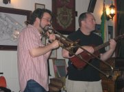 The Viper and His Second String, Italian Workmen's Club, Madison, Wisconsin. Playing for the Alliance of Graduate Employee Locals (AGEL).