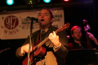 The Viper and Riley Broach with The Viper and His Famous Orchestra, Kneel to Neil (Young) benefit for The Bridge School and WMSE, Linneman's Riverwest Inn, Milwaukee, Wisconsin. Photograph by Sue Peacock.